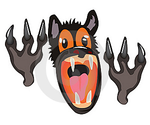 Bared Mouth Of The Wolf On White Background Stock Photos - Image: 20544653