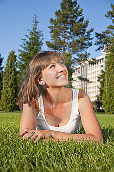 Beautiful Young Woman Smiling In A Field Royalty Free Stock Photos - Image: 20544738