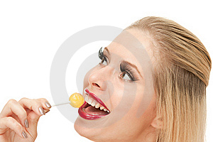 Candy Girl With Lollipop Stock Photos - Image: 20545023
