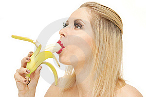 Candy Girl Sucking A Banana Royalty Free Stock Images - Image: 20545069