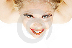 Beautiful Blond From Above Royalty Free Stock Photo - Image: 20545235