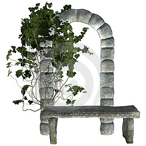 Stone Bench With Ivy Royalty Free Stock Images - Image: 20546319