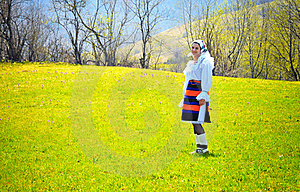 Romania Traditional Woman Royalty Free Stock Photos - Image: 20546828