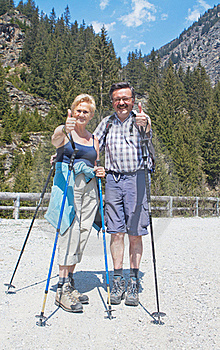 Thumbs Up To The Great Hiking Time Stock Photos - Image: 20550063