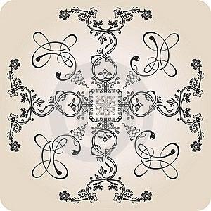 Florel Calligraphic Elements. Vintage Decor Stock Images - Image: 20552774