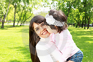 Mother With Her Daughter Outside Stock Photography - Image: 20553292