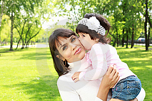 Mother With Her Daughter Outside Stock Images - Image: 20553294