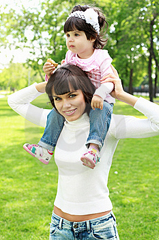 Mother With Her Daughter Outside Stock Photo - Image: 20553300