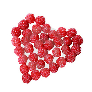 Heart Made Of Raspberries Royalty Free Stock Photos - Image: 20553358