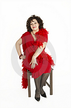Lady In Red Dress Royalty Free Stock Images - Image: 20553579