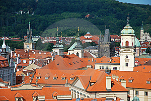 The Steeples Of Prague Stock Photography - Image: 20554112