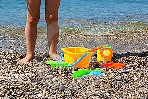 Toys On The Beach Stock Photo - Image: 20554840