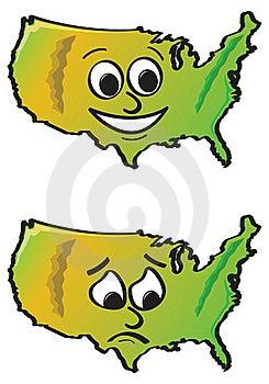 Cartoon USA Royalty Free Stock Image - Image: 20555586