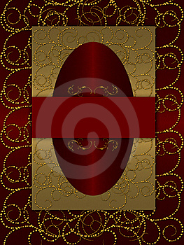 Gold With Dark Red Vintage Background Royalty Free Stock Photos - Image: 20556478