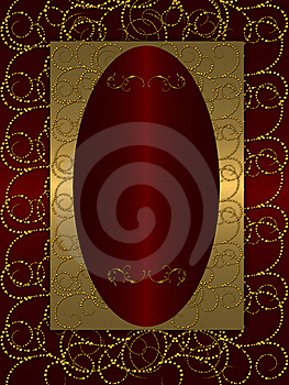 Gold With Dark Red Vintage Background Stock Photography - Image: 20556502