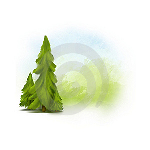 Painted Landscape Royalty Free Stock Images - Image: 20556679
