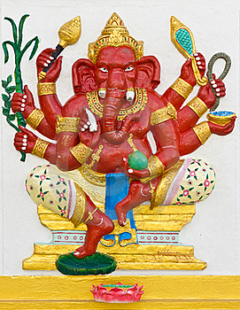 Indian Or Hindu God Ganesha Avatar Stock Photo - Image: 20556920
