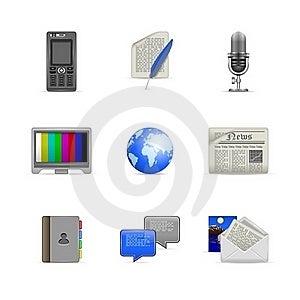 Communication Icons Stock Images - Image: 20557014
