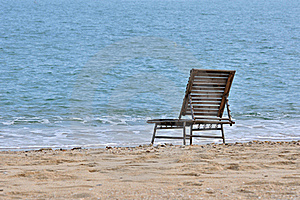 Rest Chair On Sea Sand Stock Photography - Image: 20557962