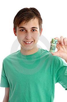 Boy Holding Money Royalty Free Stock Photos - Image: 20559458
