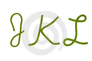 Green Fiber Rope J,K,L Stock Photos - Image: 20559543