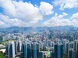 Hong Kong Buildings On Day Stock Photos - Image: 20563073