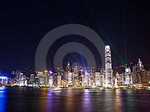 Hong Kong Symphony Of Lights Royalty Free Stock Images - Image: 20563629
