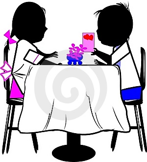 Boy And Girl At Table Stock Photos - Image: 20565493