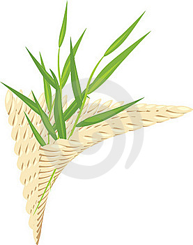 Sprig In The Wattled Napkin Stock Photography - Image: 20566822