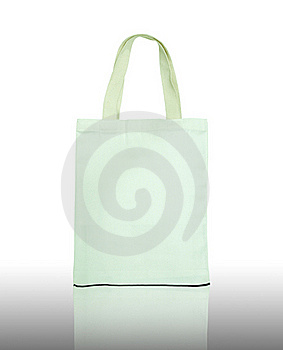 White Cotton Bag On Reflect Floor Royalty Free Stock Photo - Image: 20567815