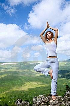 Female Gymnastics On The Rock Stock Images - Image: 20569264