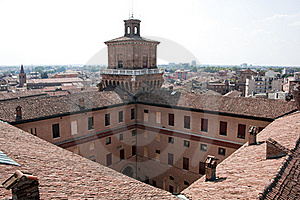 Medieval Roofs In Ferrara City Royalty Free Stock Photography - Image: 20569407