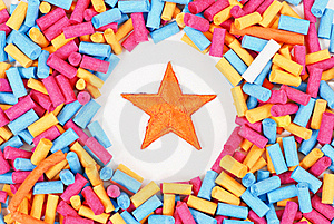 Orange Star Royalty Free Stock Image - Image: 20569416