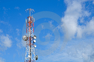 Communication Tower Over A Sky Stock Photos - Image: 20570633
