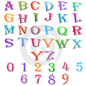 Alphabet And Number Set Stock Images - Image: 20570834