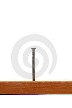 Board With Nail Stock Photography - Image: 20571962
