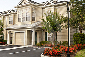 Two-story Condos In A Row Stock Photography - Image: 20572382