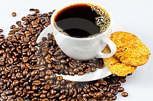 Coffee With Cookies Stock Images - Image: 20572434