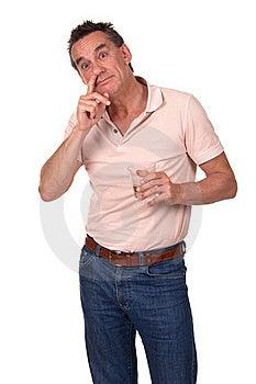 Man Caught Picking Nose And Drinking Royalty Free Stock Image - Image: 20572476