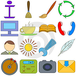 Computer Signs Royalty Free Stock Image - Image: 20573916
