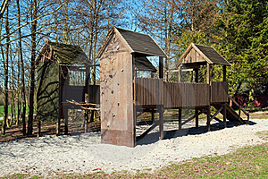 Empty Children Playground In Park Stock Image - Image: 20574261