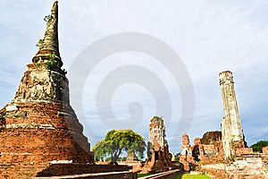 Historic Site  In Ayutthaya Of Thailand Royalty Free Stock Photo - Image: 20574315
