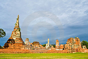 Historic Site  In Ayutthaya Of Thailand Royalty Free Stock Photo - Image: 20574365