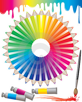 Spectrum Of Colored Pencils Stock Images - Image: 20575634