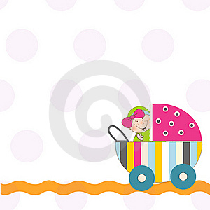 Welcome, Baby Announcement Card Royalty Free Stock Photography - Image: 20576217