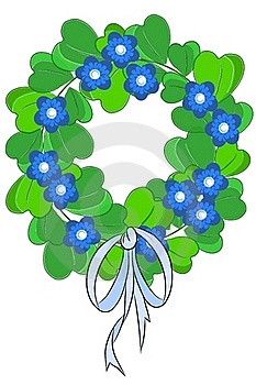 Green Beauty Chaplet - Vector Stock Photo - Image: 20582740