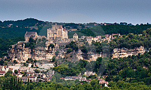 French Hillside Town Stock Image - Image: 20583681