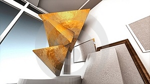 Golden Triangles In Museum Royalty Free Stock Photo - Image: 20583805