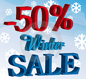 Promotion Winter Sale Background Stock Image - Image: 20585451