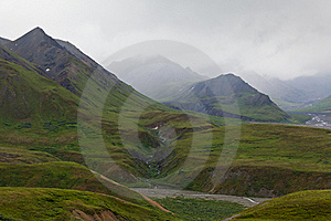 Mountain Range In The Fog, Denali National Park Royalty Free Stock Photography - Image: 20585987